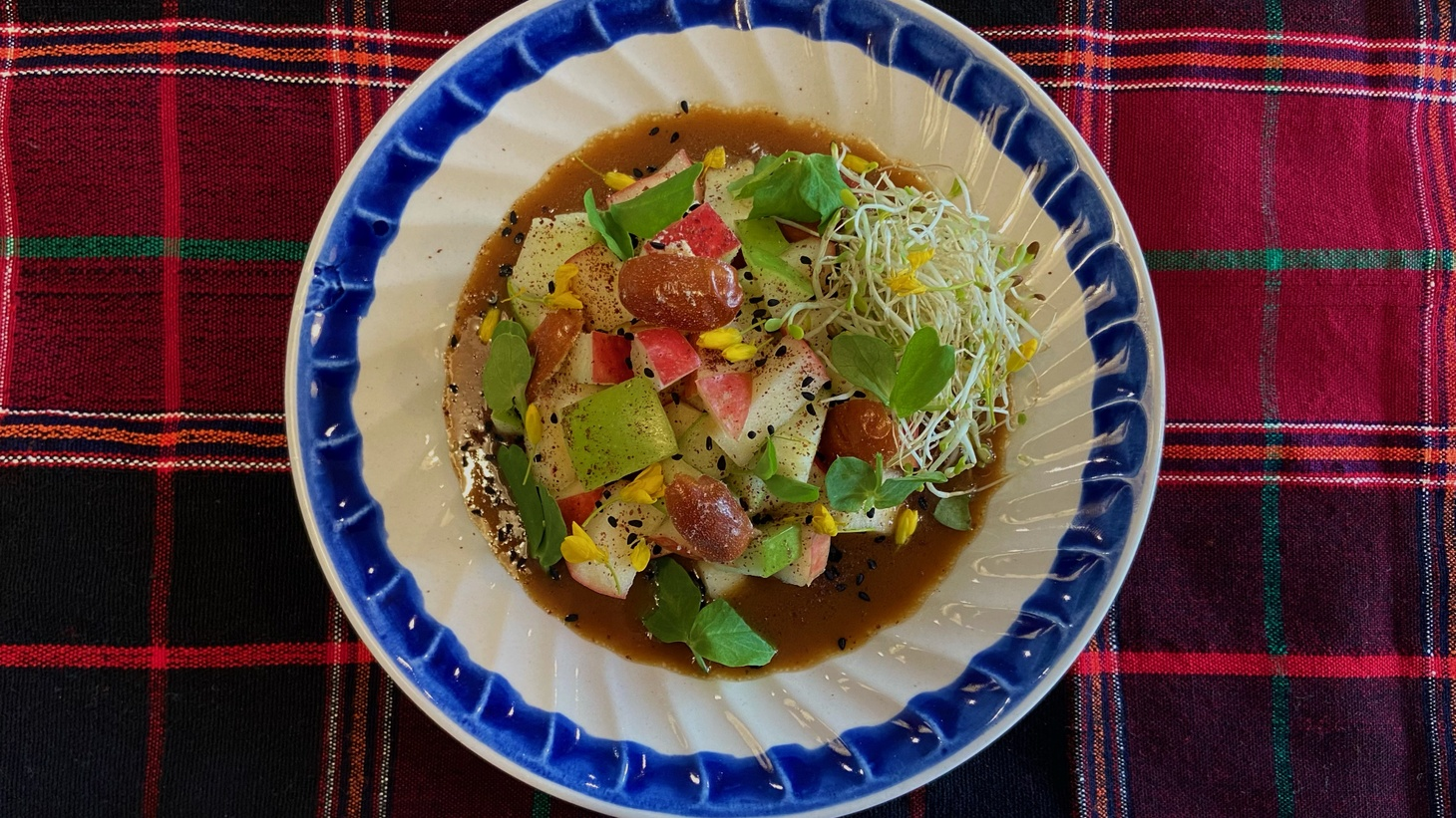 """This verdant Nowruz salad combines seven symbolic ingredients that start with the Persian letter """"s."""""""