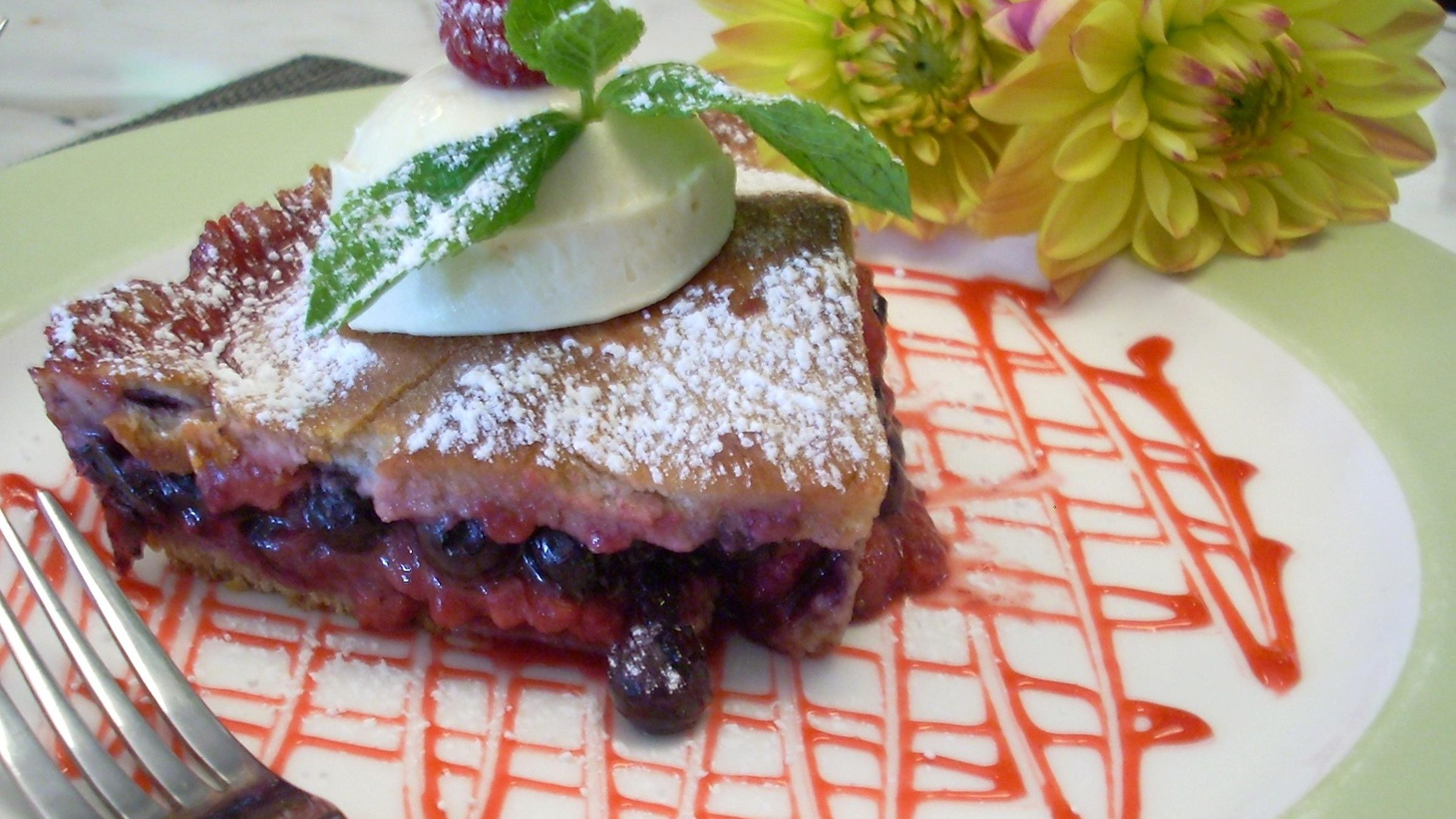 Sean Bates is an owner of Larchmont Grill where they make a Mixed Summer Berry Pie using local berries from Lavender Hill Farm. The farm is an urban farming project near Dodger Stadium. This pie is an updated version of Sean's Lithuanian grandmother's pie.