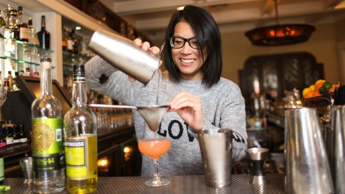 "Cari Hah, bar manager of Big Bar in Los Feliz, is one of the women profiled in ""Movers and Shakers."""