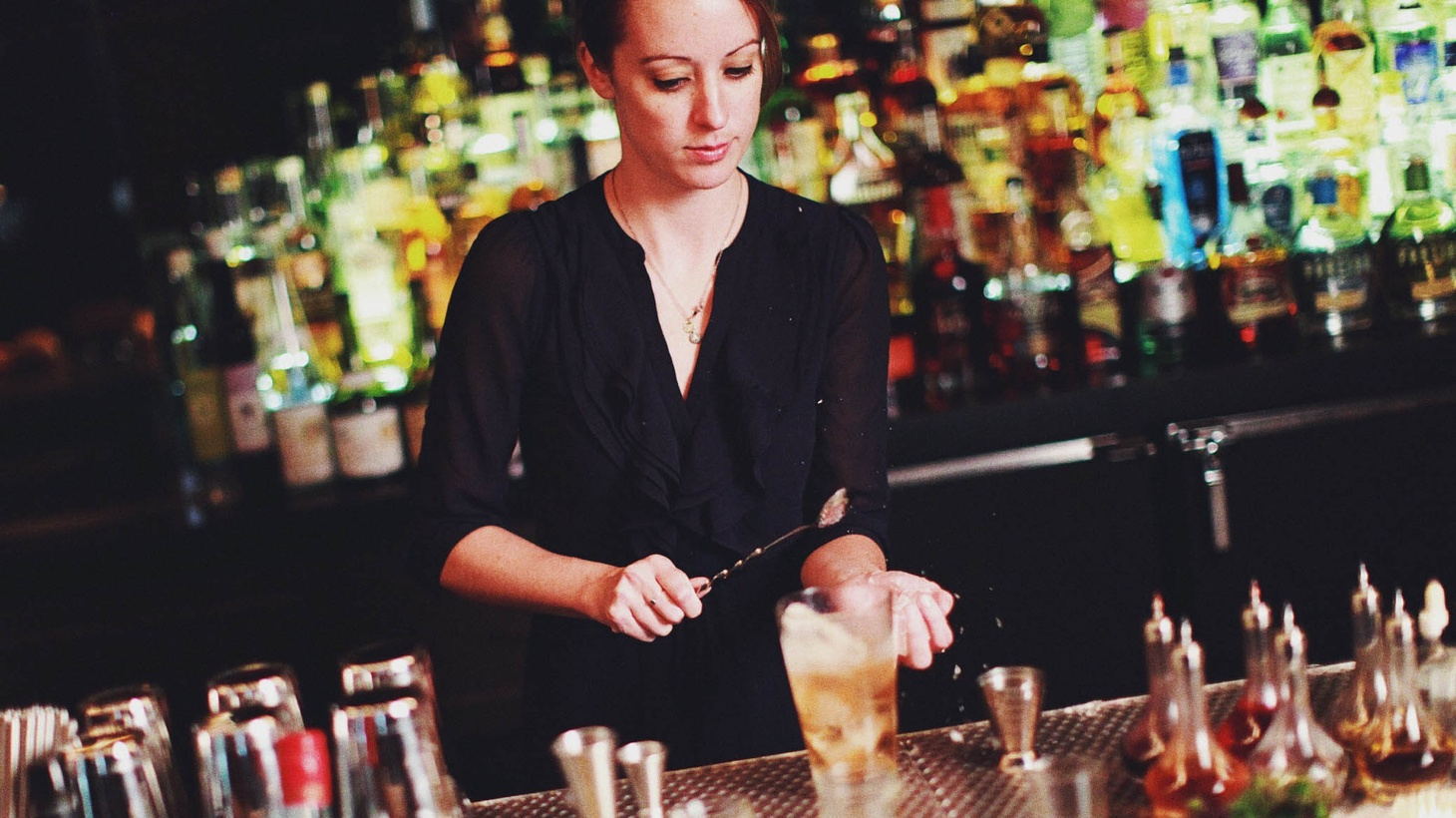 The Walker Inn's lead bartender, Katie Emmerson, at the helm.