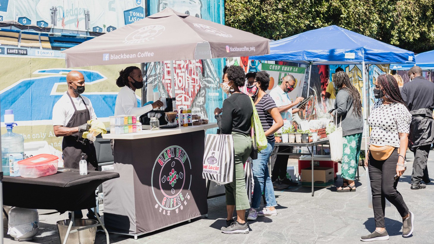 Shoppers at a Melrose event in March, Prosperity Market was born out of the pandemic by Carmen Dianne and Kara Still.