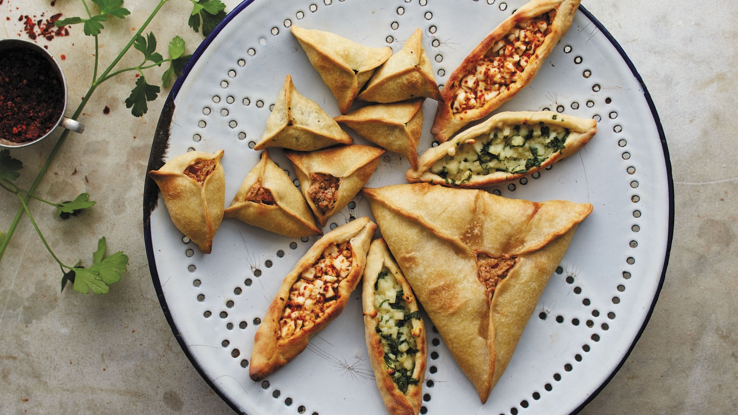 Lebanese Fatayer from 'Feast' by Anissa Helou.