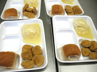 School Lunch with Chicken Nuggets