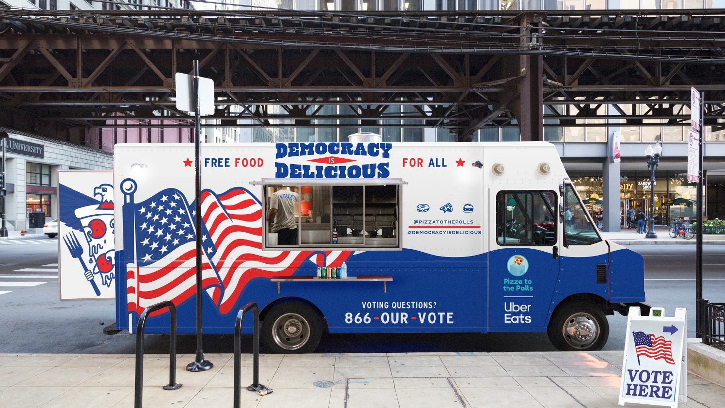 For the 2020 election season, Pizza to the Polls is deploying food trucks to 25 cities around the country for early voting and Election Day.