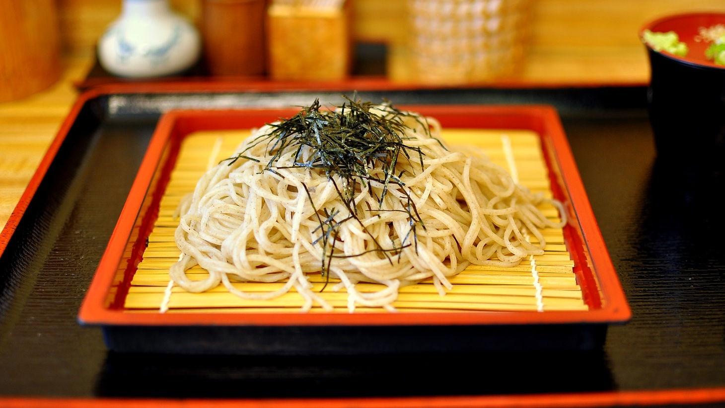 The soba noodles at Ichimi Ann Bamboo Garden are made from scratch and can be ordered cold.