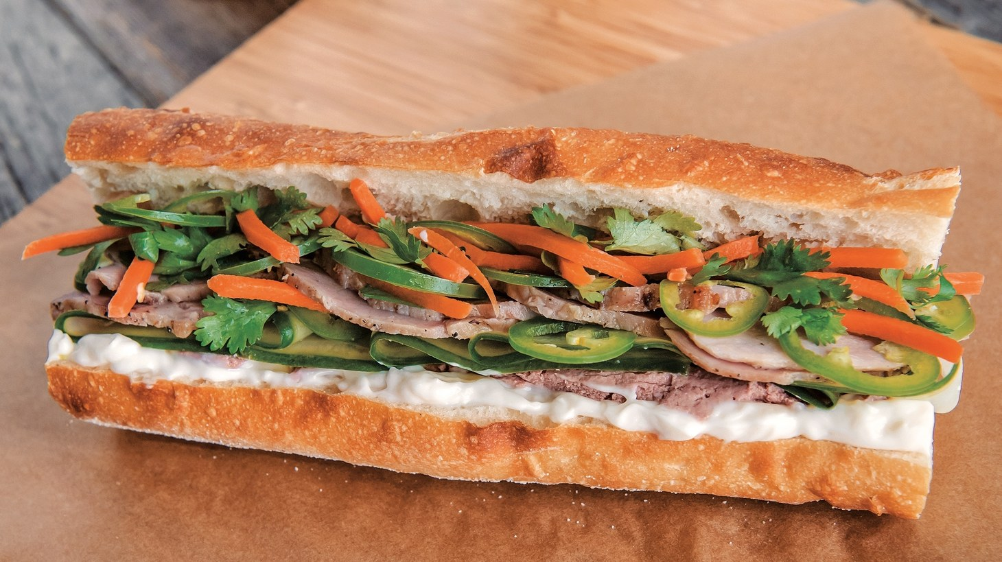 """Pork Banh Mi. Excerpted from """"101 Epic Dishes: Recipes That Teach You How to Make the Classics Even More Delicious""""."""