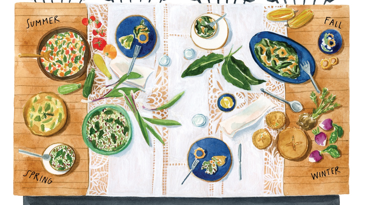 """Restaurateur, chef, and author Cara Mangini is passionate about cooking with fresh produce. Lindsay Gardner charted her seasonal obsessions in her book """"Why We Cook."""""""