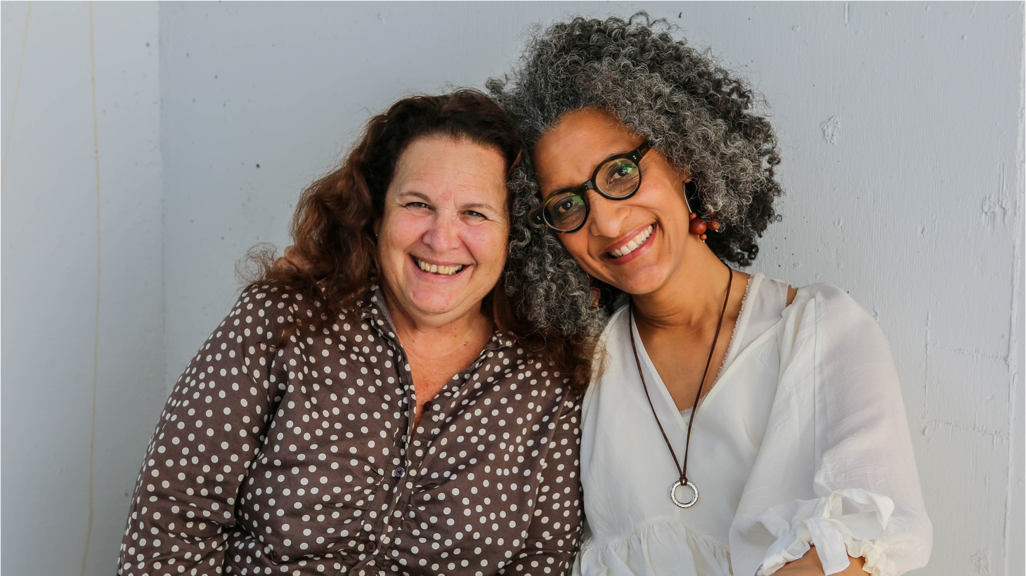 Friendship at first sight: Carla Hall meets Evan Kleiman at KCRW in Santa Monica.