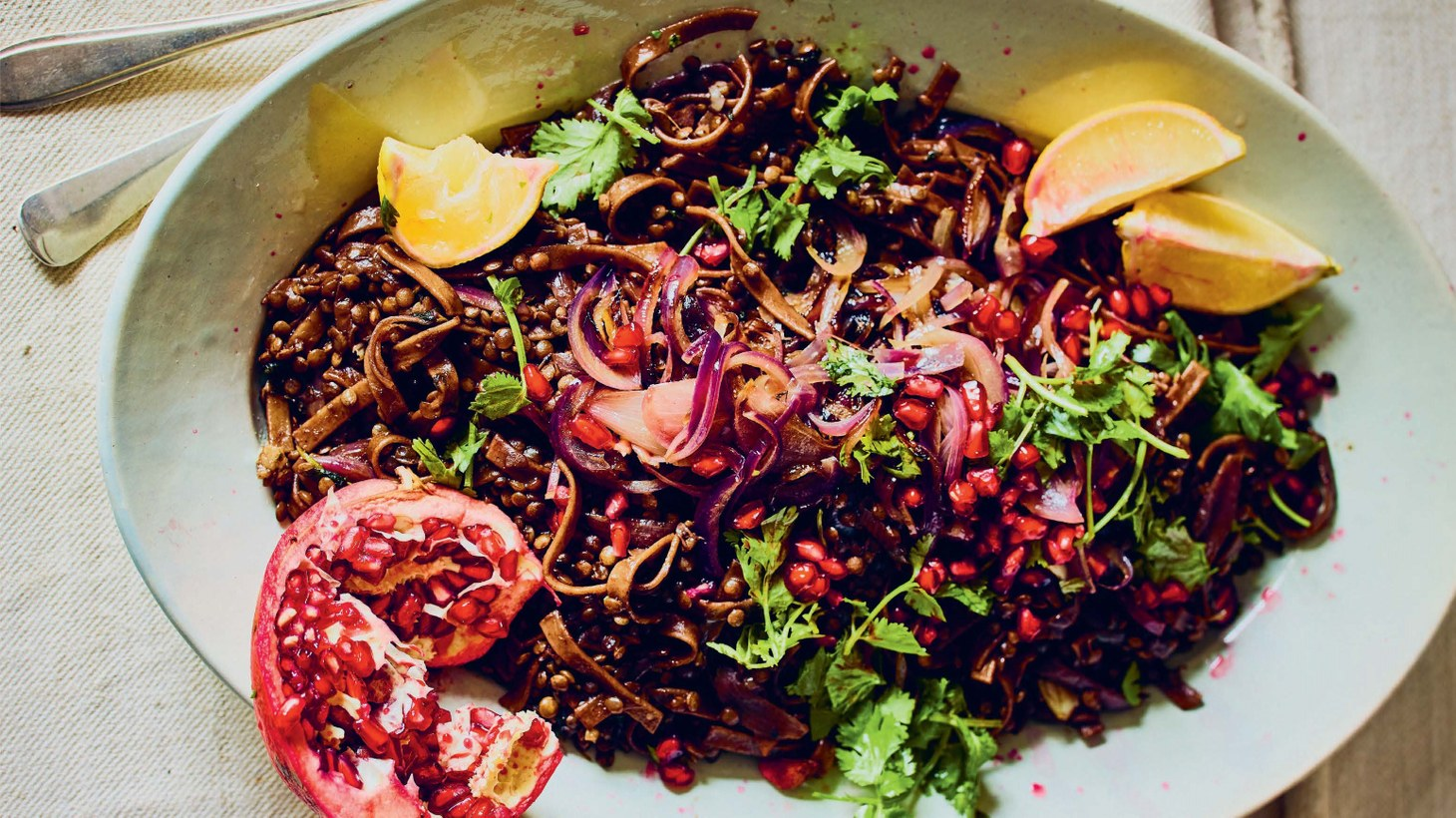 Anas Atassi attests that he didn't have horak osbao, a lentil and pasta stew with tamarind and pomegranate, until he was an adult.