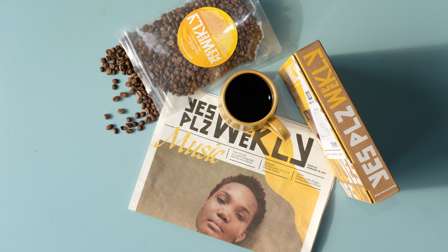 Yes Plz is a coffee subscription and a magazine that makes coffee blends with 'zines.