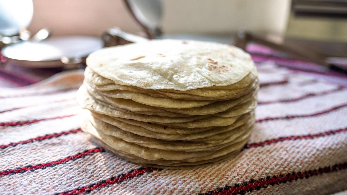 Freshly made flour tortillas from Sonoratown, last year's #TortillaTournament winner and the #1 seed this time around.