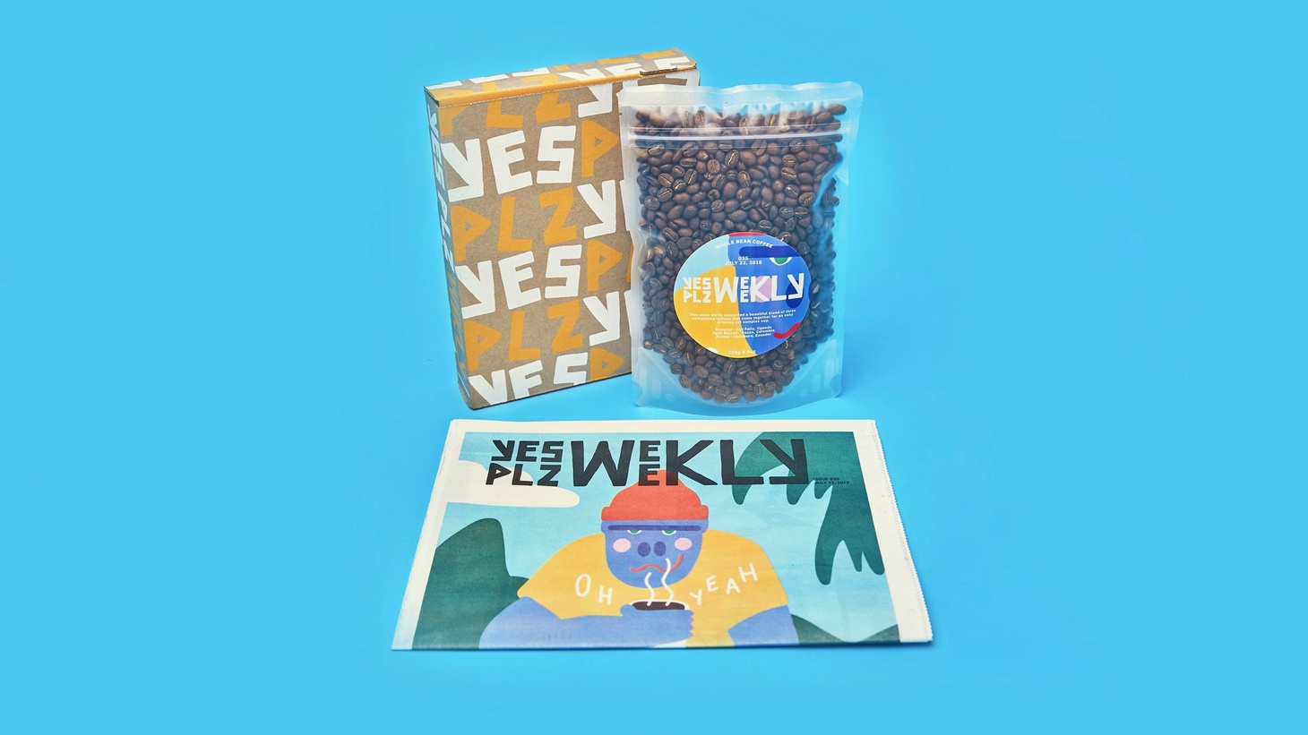 Yes Plz is a new weekly delivery service that includes an eclectic magazine with a pack of freshly roasted coffee.
