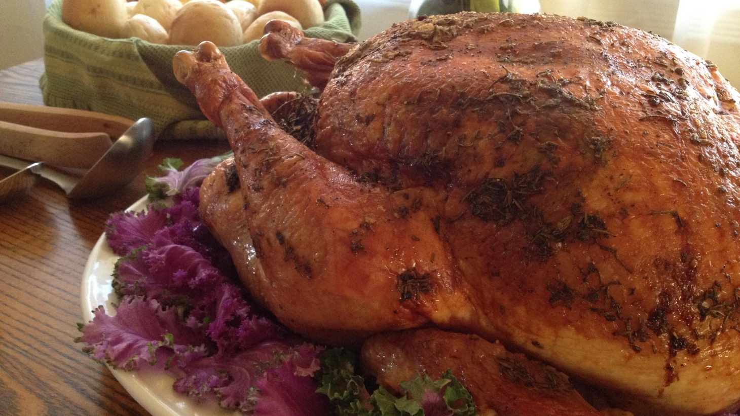 This year why not cook your Thanksgiving turkey on the grill? A BBQ expert explains how. Chef Thomas Keller looks forward to Thanksgiving leftovers.
