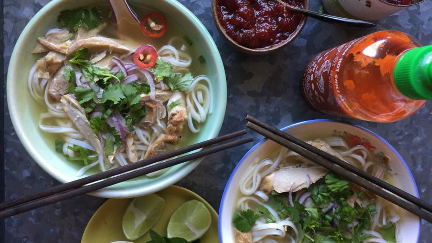 Leftover turkey? If you're Andrea Nguyen, pho and wonton soup are in your post-Thanksgiving future.