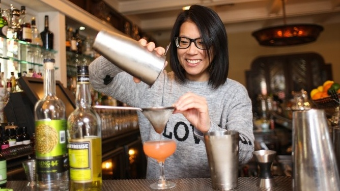 """Cari Hah, bar manager of Big Bar in Los Feliz, is one of the women profiled in """"Movers and Shakers."""""""
