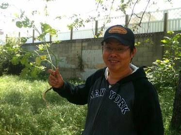 Eddie with Wild Radish