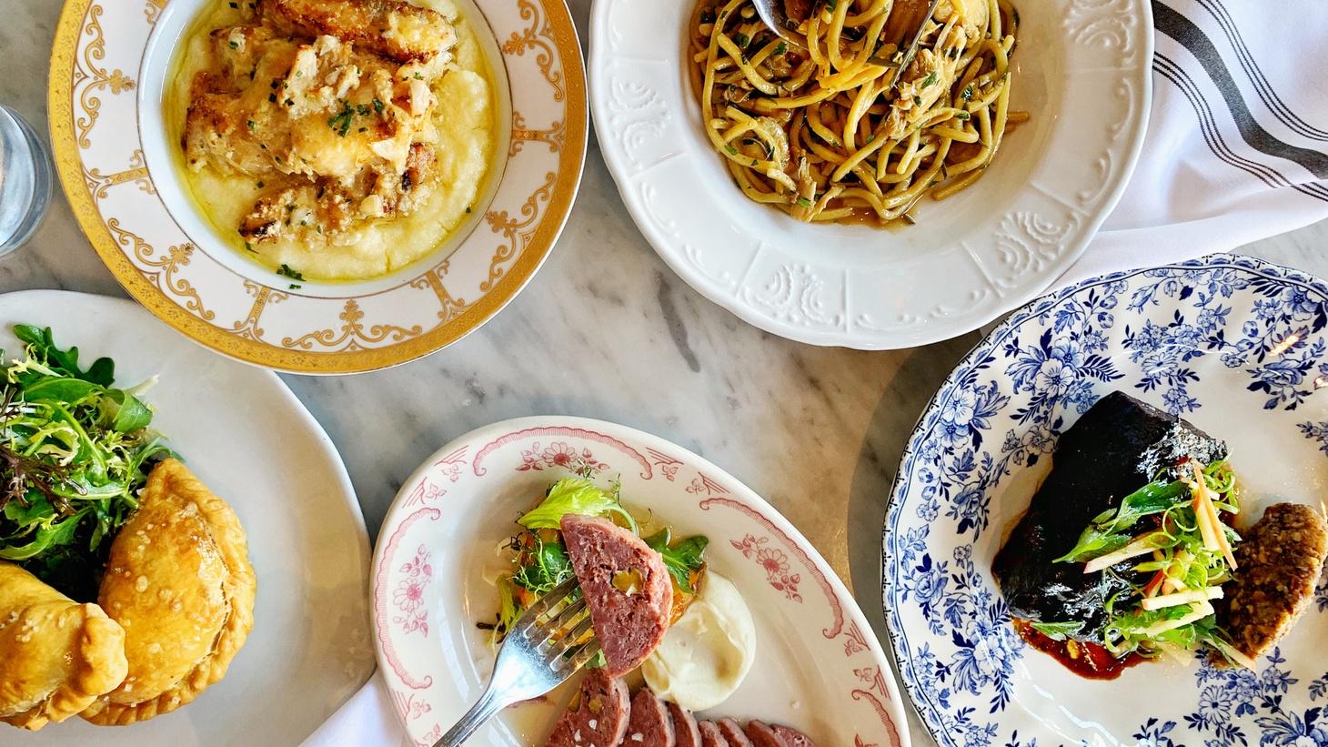 Dishes from Rossoblu's Cucina Ebraica menu.