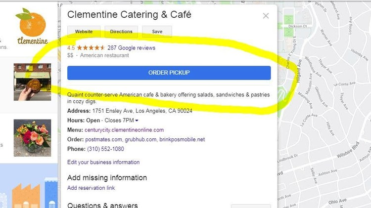 """If you've recently searched for food delivery on Google, you might have noticed the """"Order Online"""" button that appears under many restaurant listings."""