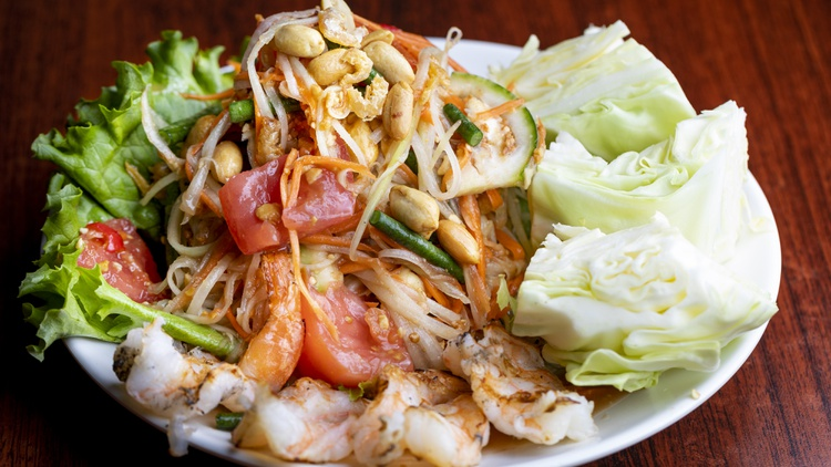Chefs Noree Pla and Fern Kaewtathip met on the island of Phuket in southern Thailand.