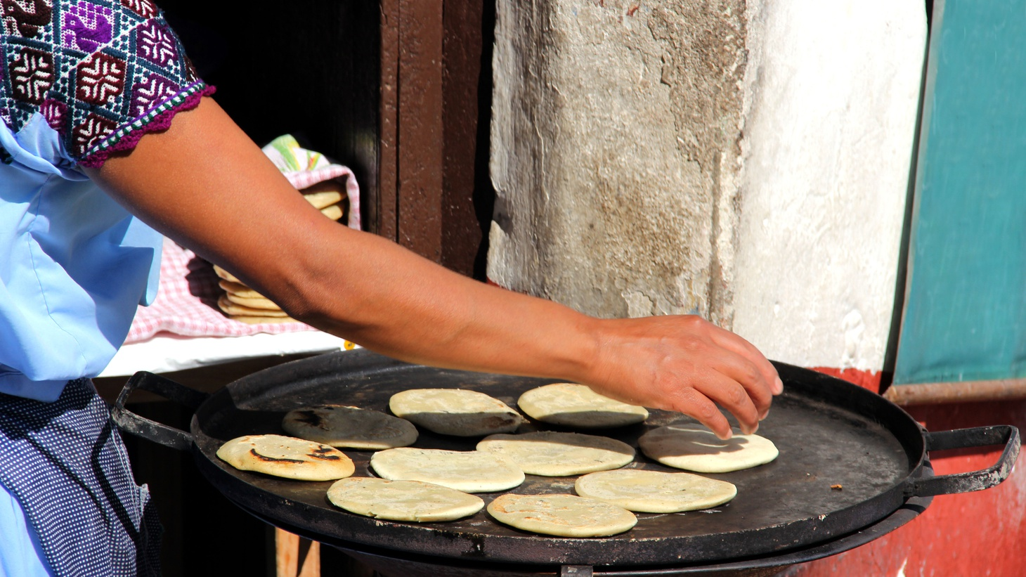 The secret to a perfectly warmed tortilla? The time-tested comal.