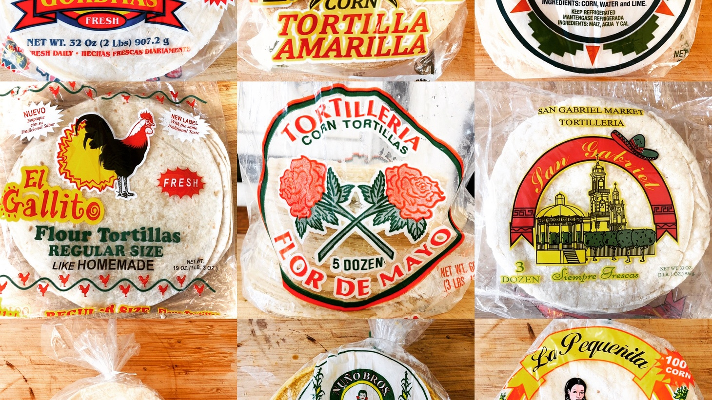 The tortilla wrappers for nine of the contestants in this year's #TortillaTournament. Read below to see which ones advanced to the next round!