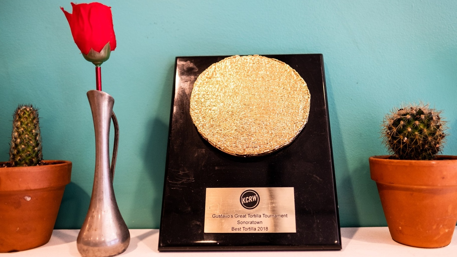 Sonoratown's 2018 trophy from the Great Tortilla Tournament.