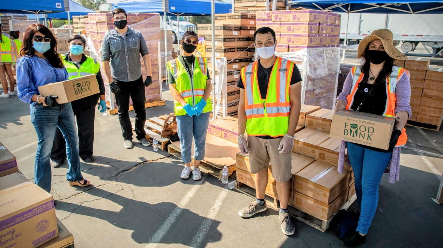 Volunteering is one way Michael Flood, Executive Director of the Los Angeles Regional Food Bank, recommends helping the organization.