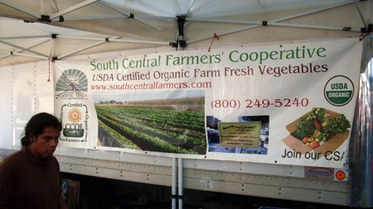 South Central Farmers' Sign