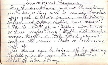 Sweetbreads Havanese