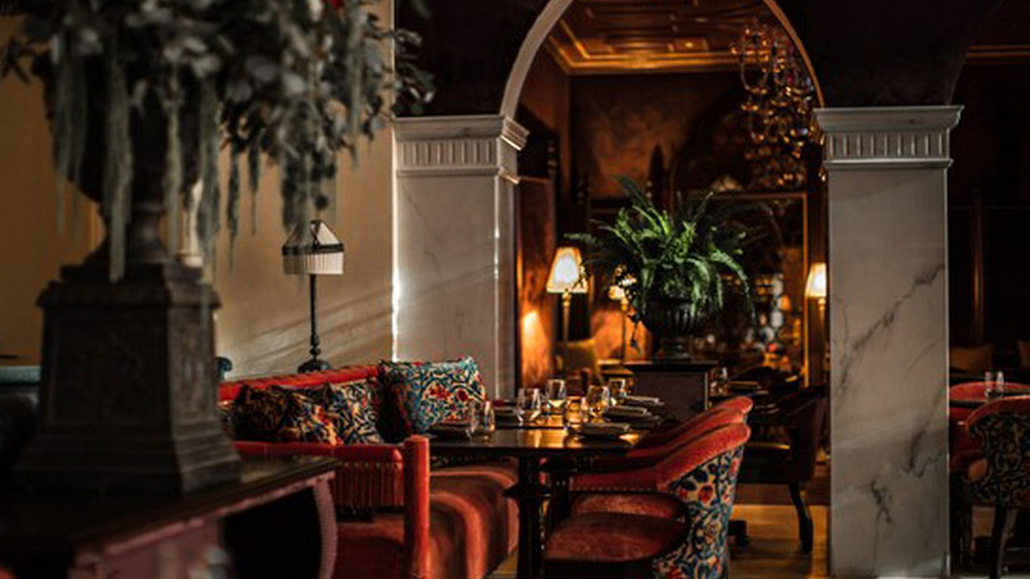Interior decor at The NoMad Hotel and restaurant.