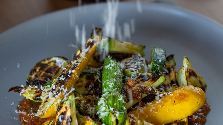 Market correspondent Gillian Ferguson meets up with   Charcoal Venice   partner and Chef de Cuisine Joseph Johnson, who is featuring summer squash on the menu.