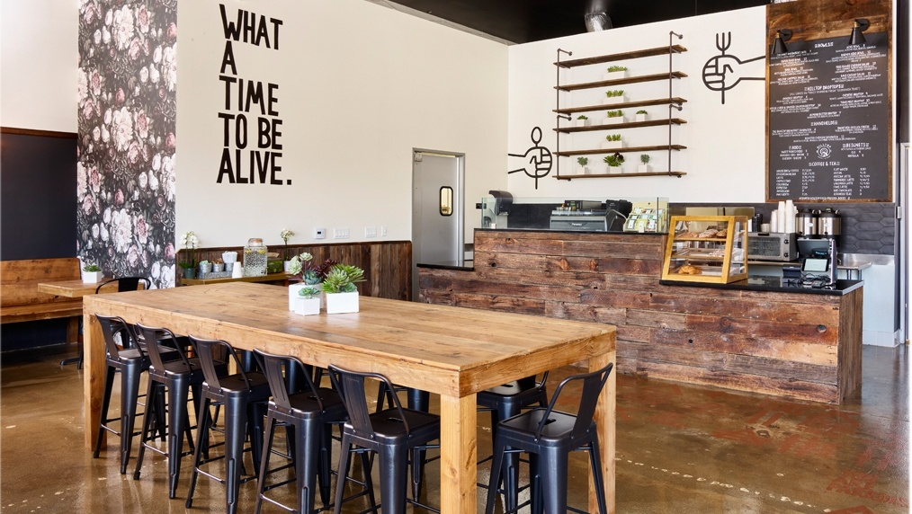 The interior of Hilltop Coffee + Kitchen in Windsor Hills