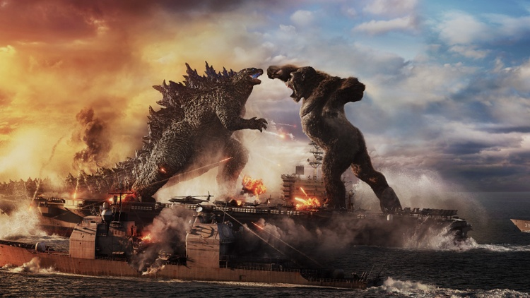 """Godzilla vs. Kong"" made $9.6 million at the box office on opening day — a record for the pandemic."