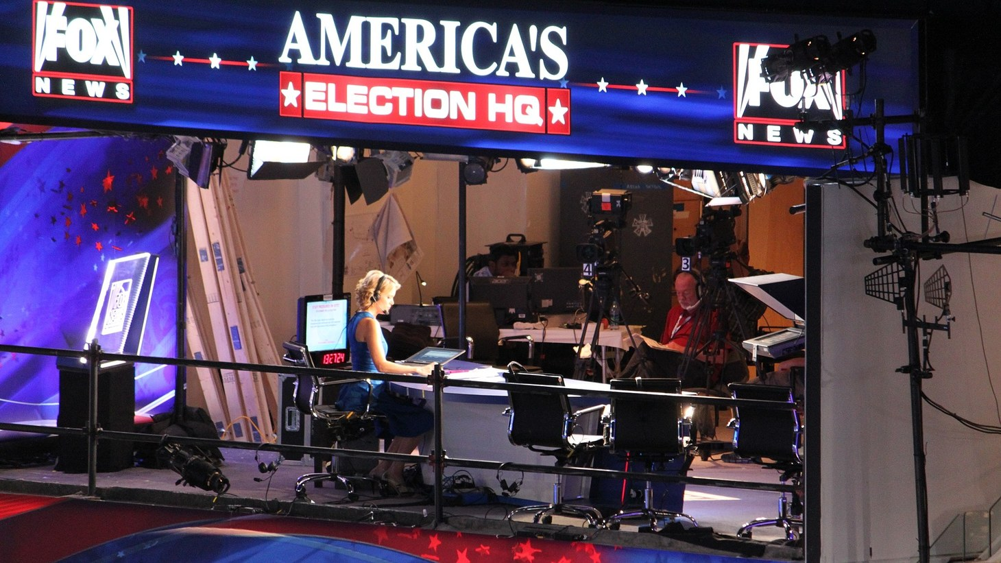 Fox News HQ on the third day of 2012 Democratic National Convention coverage.