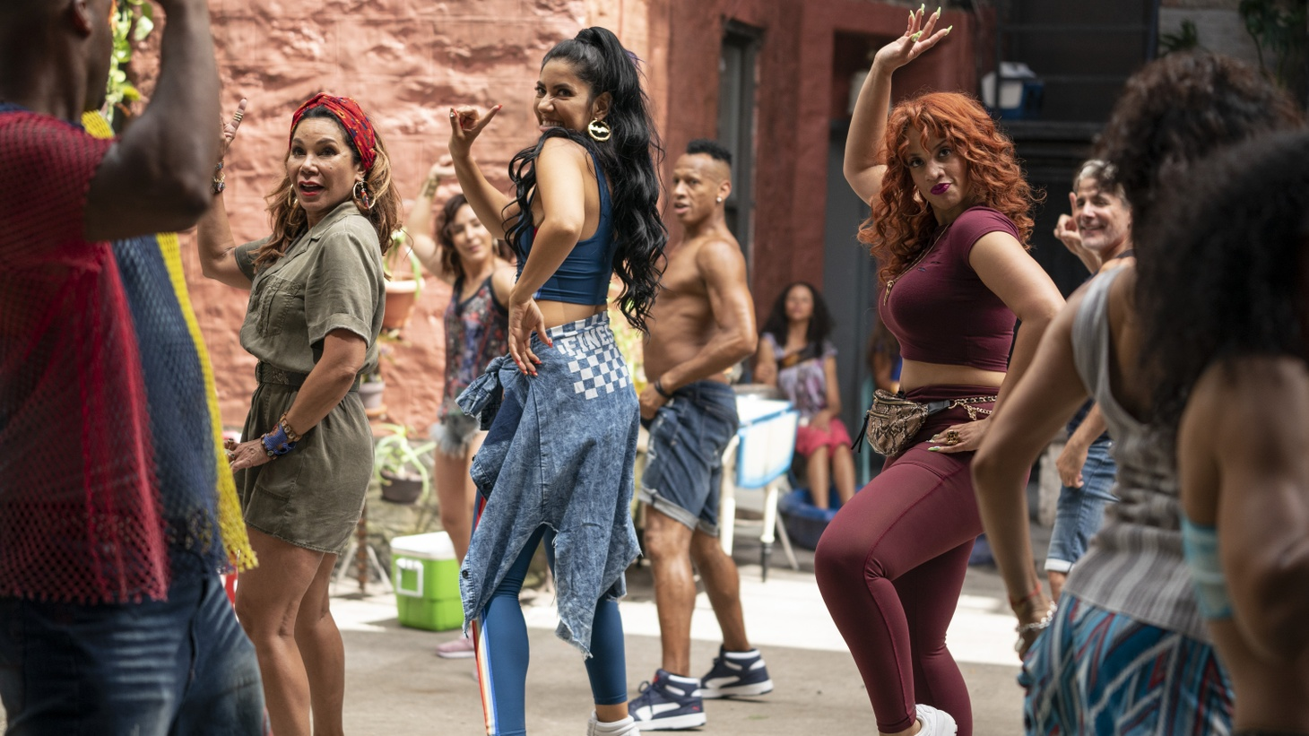 """Daphne Rubin-Vega, Stephanie Beatriz and Dascha Polanco in """"In the Heights."""" The film had big buzz in media circles, but that excitement didn't translate to a strong box office."""