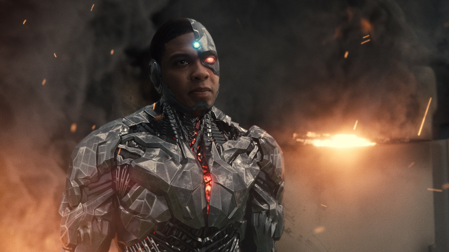 """Ray Fisher as Cyborg in """"Zack Snyder's Justice League"""""""