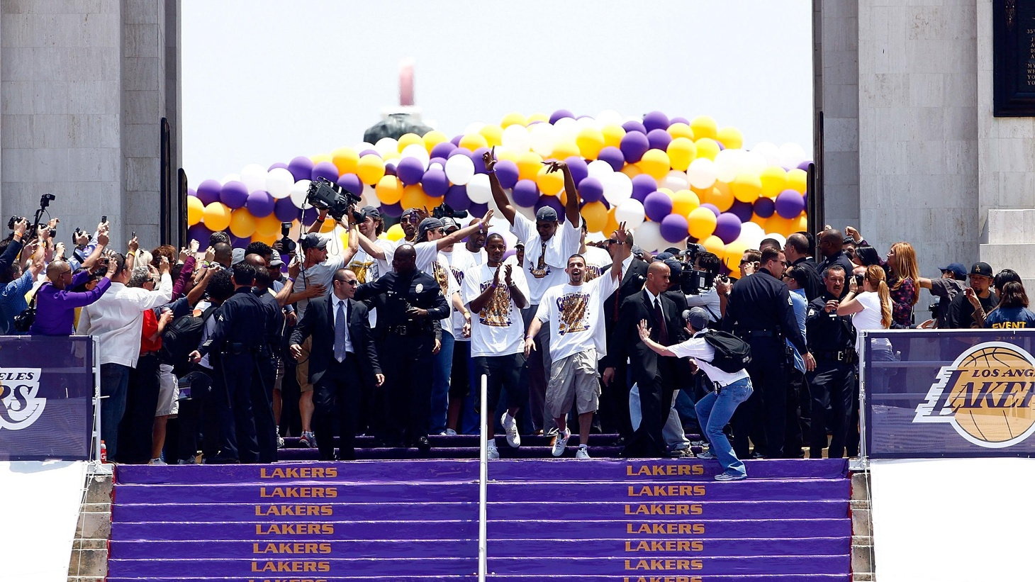 First off, congratulations and all that to the Lakers. They're the one L.A. pro sports team that can be counted on to bring home a championship trophy every now and then. Congratulations also to Los Angeles for taking the Lakers title mostly