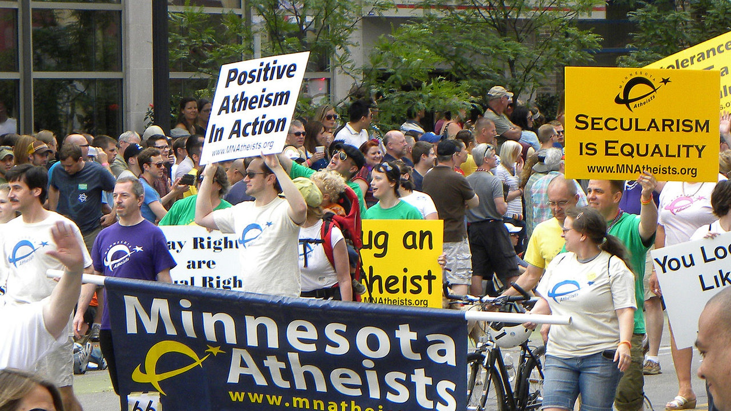 Atheists at the Twin Cities Pride Parade, Minnesota, 2011.