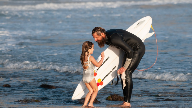 For those who love to surf, the act of riding the waves   is both a physical and spiritual experience. But for some,it is also a religious one.