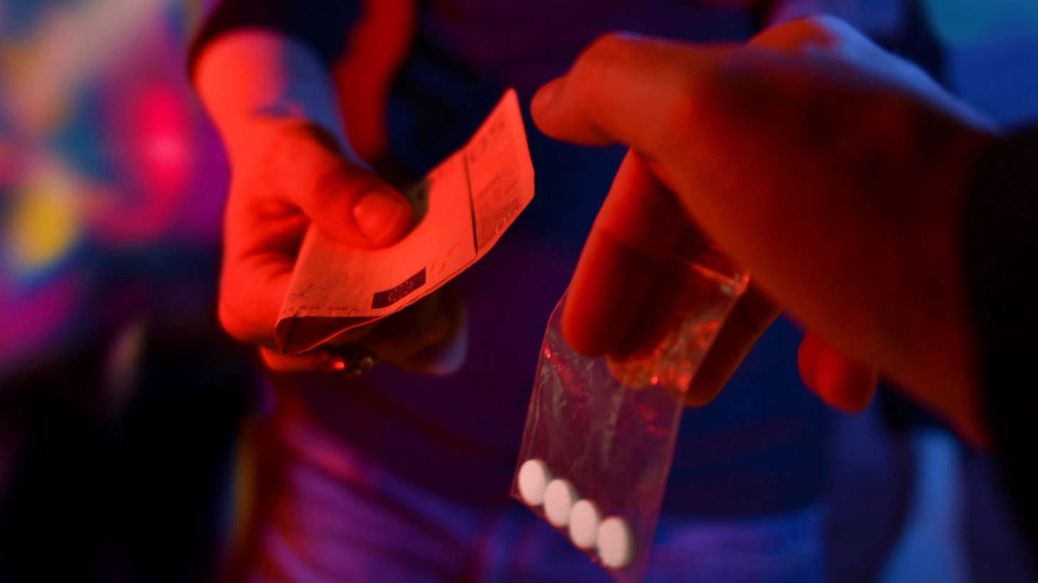 MDMA being sold in a club.