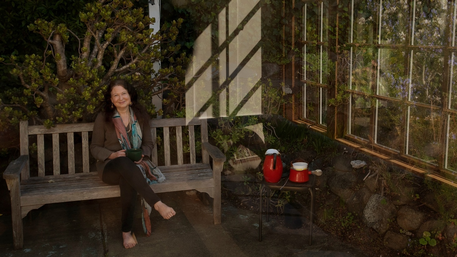 Jane Hirshfield at home in Mill Valley, California.