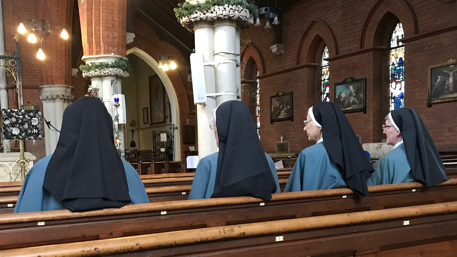 Four Anglican nuns from the Community of the Sisters of the Church (United Kingdom Province)