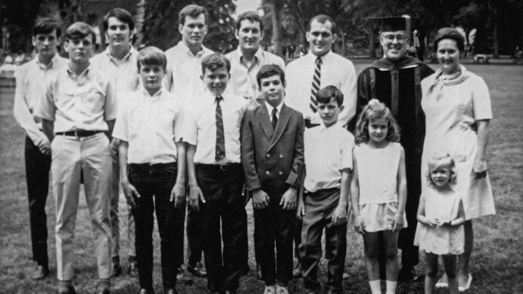 On the surface, the Galvins were the model American family. Parents Mimi and Don lived in Colorado Springs in the 1950s and 60s and had 12 children, 10 boys and two girls.