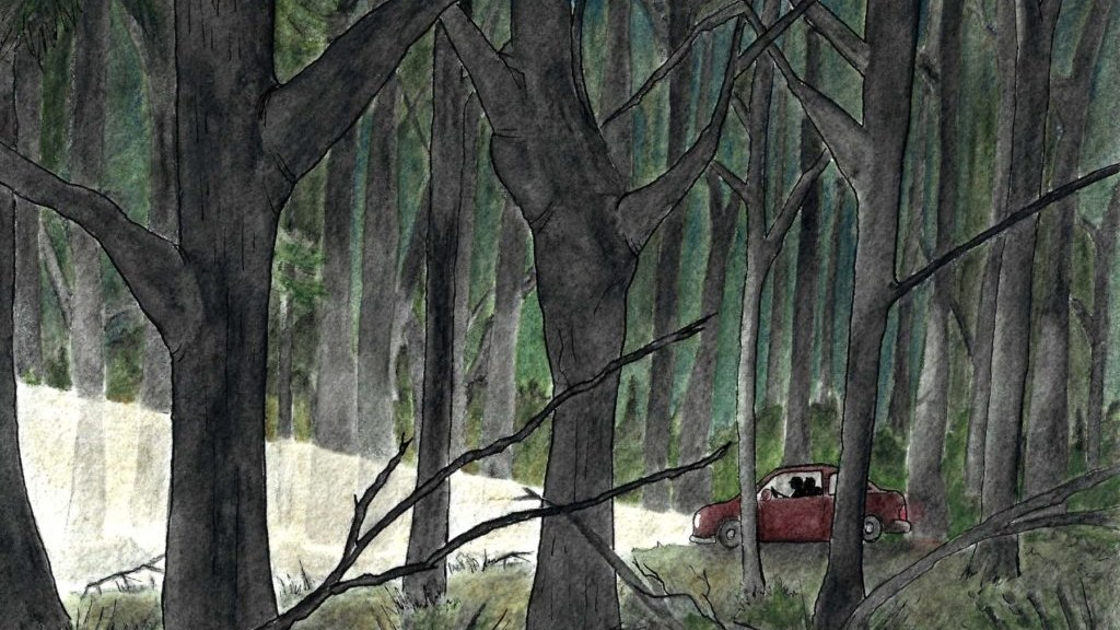 Zoe and Sarah were young, free explorers on a spontaneous summer road trip. As darkness began to fall, the map on Zoe's phone directed them to a short cut that would speed up their drive and get them to a safe place to spend the night.