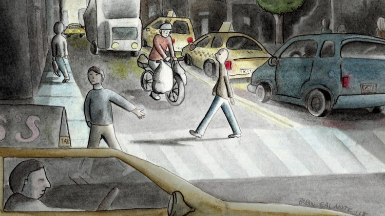This crazy thing happens in NYC as night approaches – as rush hour picks up and the streets get evermore hectic than normal, delivery men on bikes start racing through the streets to…
