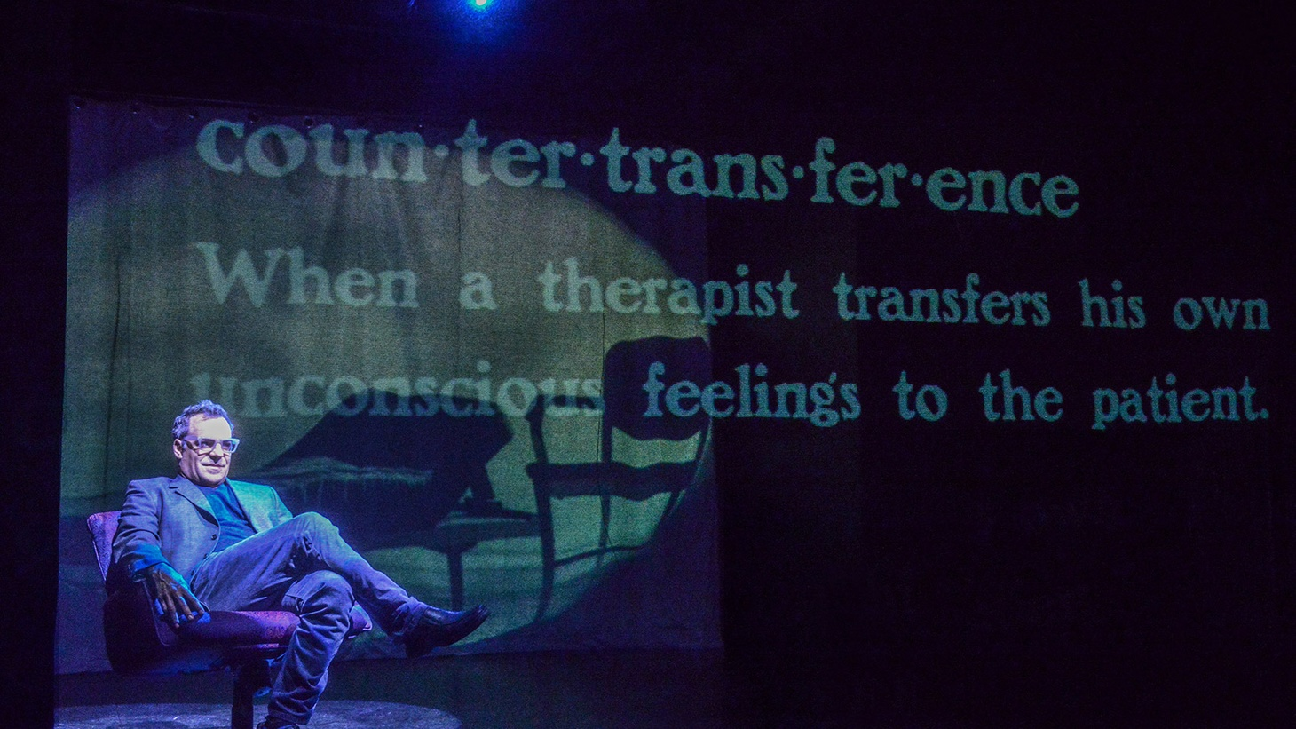 Sandwiched between two projection screens, Plasticity is the theatrical equivalent of bologna.