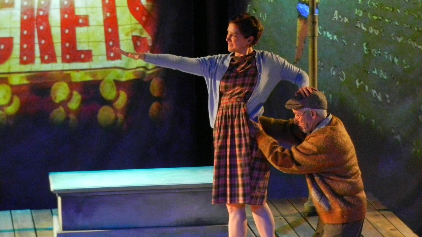 """While death is the catalyst for the play, at its heart """"Walking a Tightrope"""" is sweet tale of a grandfather trying his best and a little girl growing up."""