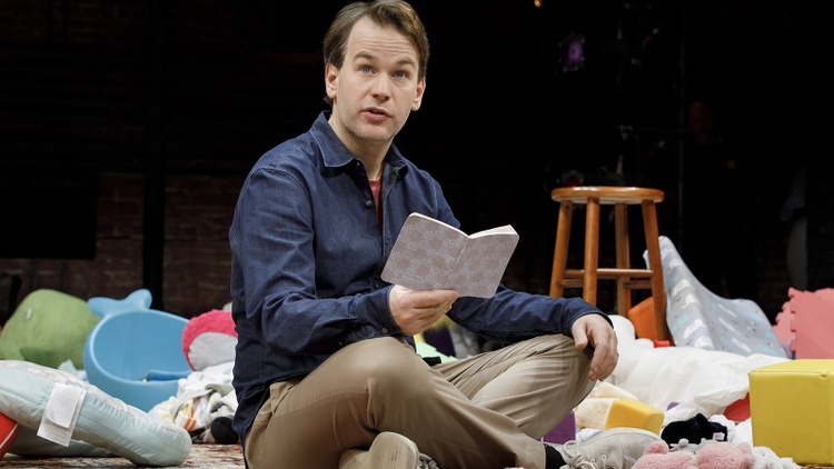"The setup at the center of Mike Birbiglia's one-man show ""The New One"" is not particularly new. In fact, it's familiar trope: the reluctant dad."