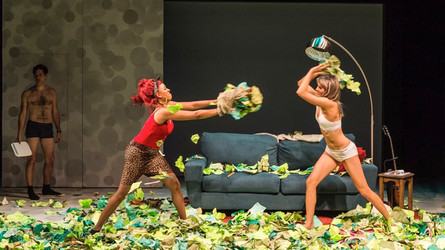 Based on an Internet meme of the same name, Sheila Callaghan's Women Laughing Alone with Salad attempts satire but ends up wading through the greens.