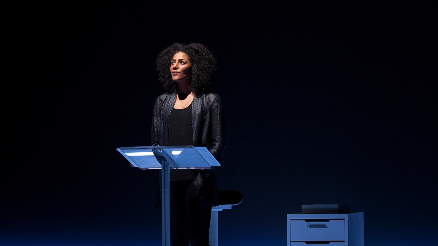 """If you go see Sarah Jones' one woman show """"Sell/Buy/Date"""" at the Geffen Playhouse, I'll bet you that someone in the seats near whispers during the show """"wow, she's good."""""""